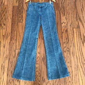 Theory wide leg denim pants size 2